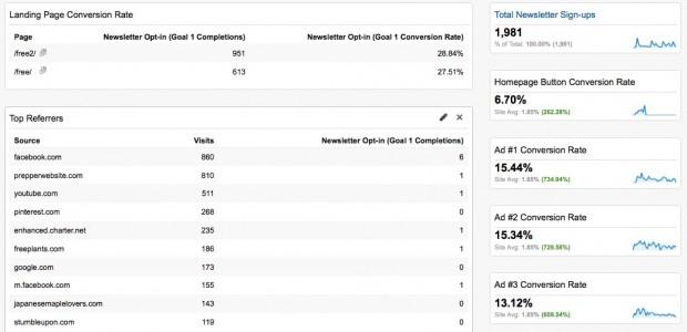 Fully functioning Analytics Dashboard