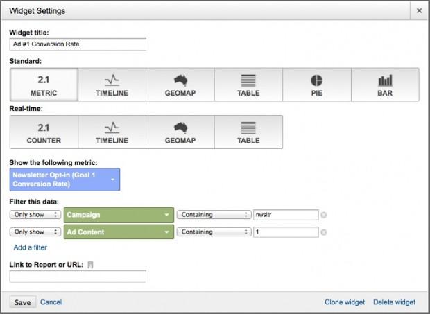 widget to track ad conversions