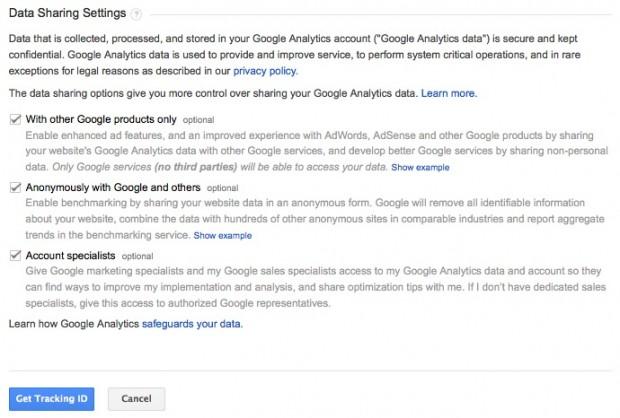 Data Sharing Settings