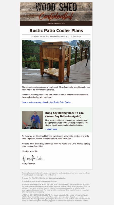 Free Email Newsletter Template for Direct Response Marketers